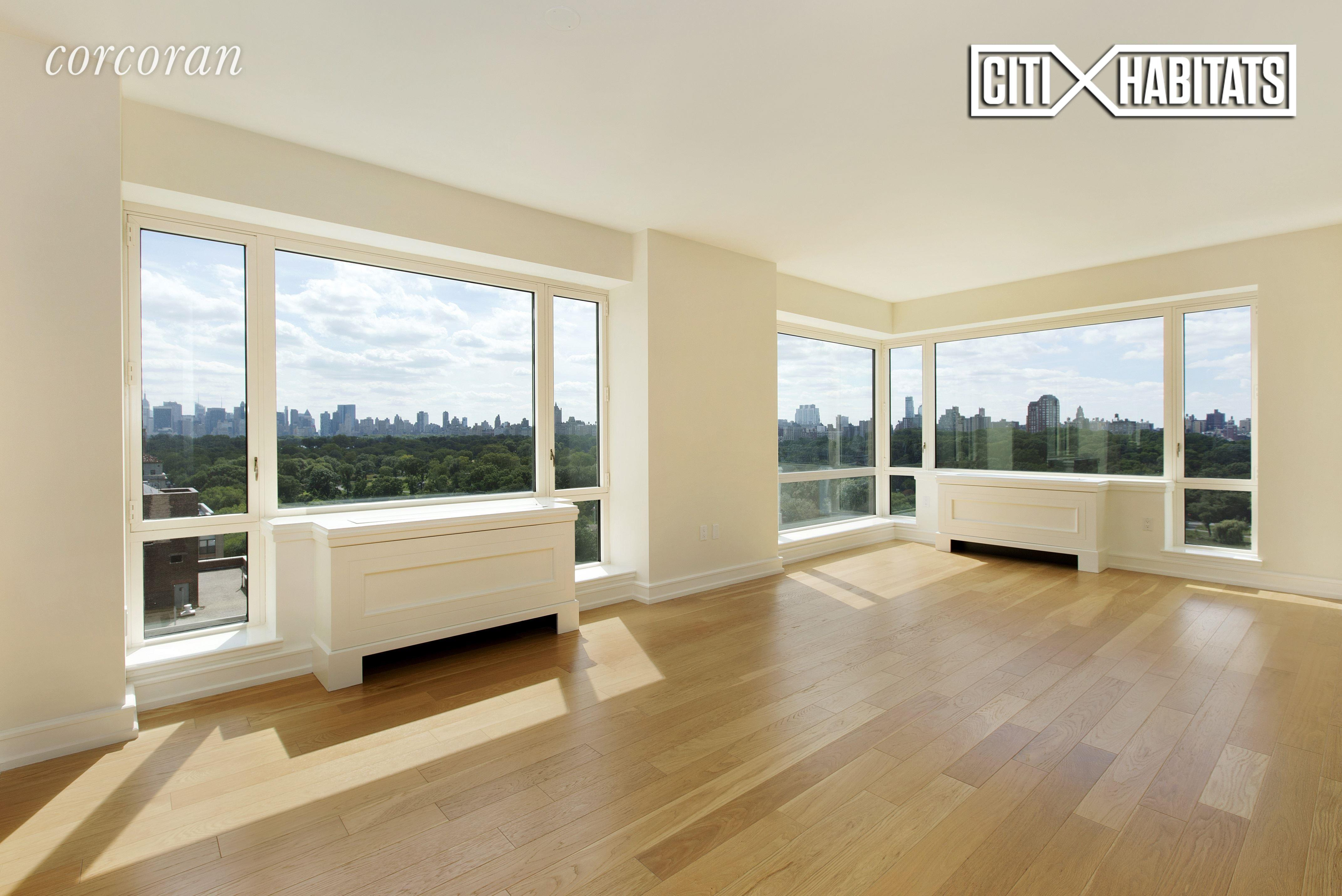 """3BR 3 full bath on Fifth Ave, with direct Central Park and Southern Skyline view! One Museum Mile, designed by acclaimed architect Robert A. M. Stern. An elegant entry foyer leads to the expansive living room with oversized windows that show off breathtaking sunsets over Central Park, as well as the magnificent Manhattan skyline. The open kitchen features an island and top-of-the-line appliances, and all bedrooms faces south and west, offering picture-perfect park views. There are two master bathrooms with showers and deep soaking bathtubs, two large walk-in closets, eight full-sized closets, and a washer and dryer in the apartment. One Museum Mile offers some of the best amenities in Manhattan—a rooftop swimming pool, a 20-seat dining room facing Central Park, two separate rooms for entertaining, a state-of-the-art fitness center, game room, playroom, and two roof terraces with outdoor grills. This is a true """"house in the sky"""" in one of the city's most sought-after locations. Make this grand residence on Central Park your new home! (Tenants in place, require 24-48 hour notice)"""