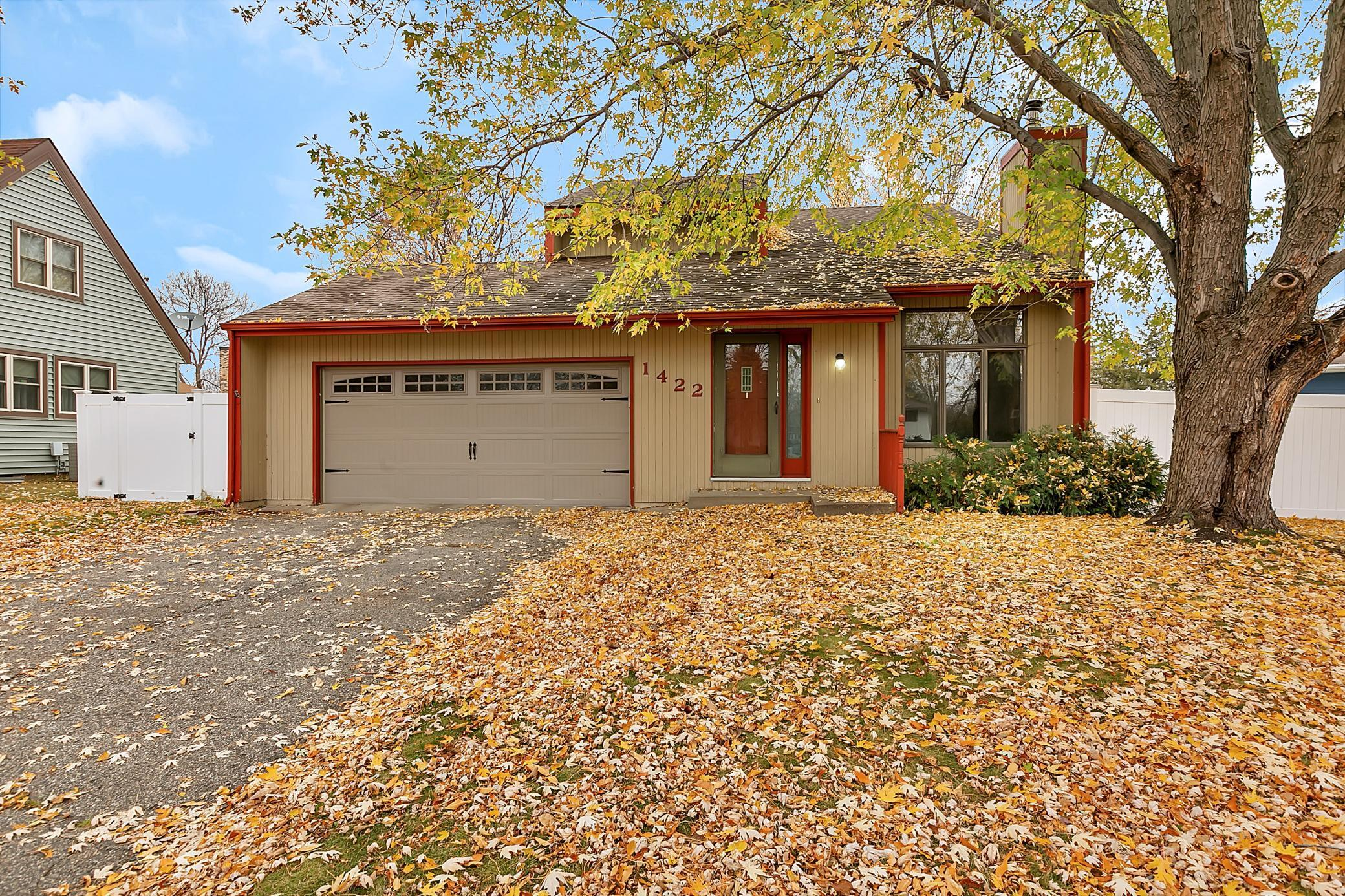 Unique custom built two story home located in a cul-de-sac. Main level features remodeled kitchen, spacious living room with wood fireplace and vaulted ceilings, laundry and a 1/2 bathroom. The upper-Level offers 3 Bedrooms on the same level and a full bathroom with master walkthrough. Lower level consists of a family room, a bathroom and more space to finish or for storage. Backyard has a 6 foot maintenance free privacy fence, concrete patio and storage shed.