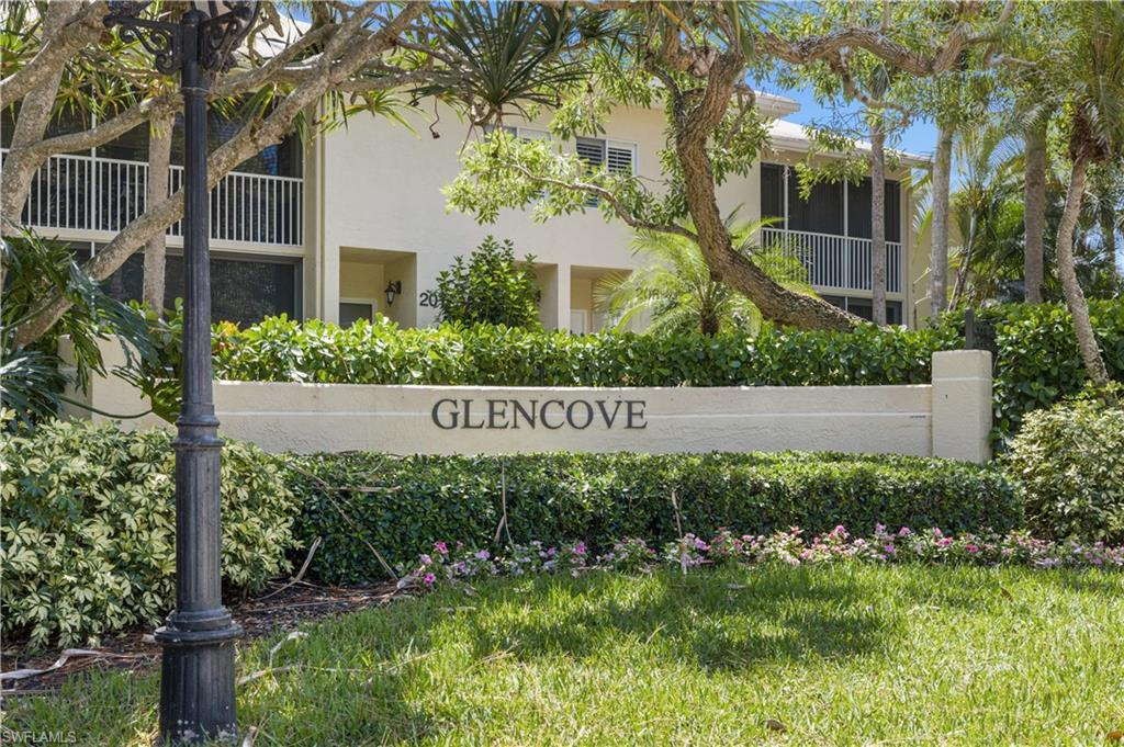 Rarely available 2 bedroom with den condo in well-located in Glencove, lives like a 3 bedroom! This is a second-floor unit with 2 full baths, screened enclosed terrace, laundry in unit, and tile flooring in the main living spaces. Ground level storage and assigned parking available as well. Glencove is one of Pelican Bay's best locations. The unique beach community of Pelican Bay is just a short walk from the beach and the Sandbar Restaurant in Pelican Bay, the Philharmonic Center for the Arts, the Naples Art Museum and the Waterside Shops. Pelican Bay's world-class amenities include miles of pristine beaches with two private beachfront areas for playing, dining and sunset cocktails, lush, quiet mangrove forests and endless walking paths. Two tennis centers include 18 har-tru courts, a large community center and fitness club. This condo is the perfect place to enjoy all that Pelican Bay and Naples has to offer!