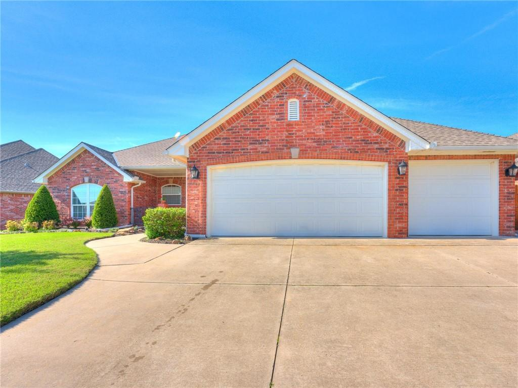 Multiple Offer Situation, Highest & Best Offers Due By Saturday 06/05/21 @ 3PM. RESPONSE TIME ON OFFERS 5pm 06/05/21. Open Spaces: 4 Bedroom, 2 Bath, 3 Car Garage Home in NW Norman! Features Open Living, 2 Dining & Kitchen which features: Functional Island w/ Storage & electric, Breakfast bar, 2021 Bosch Dishwasher & Microwave & Built-in Oven. Granite & Wilson Art counters custom Storage & Breakfast Nook. Living area has Huge Windows offering Tons of Natural Light, Fireplace, Surround Sound. Owners suite is Spacious w/ sitting area, Huge Walk-in Closet, & En Suite ~ has Jetted tub, Separate shower, Double vanities. The additional bedrooms are large w/ walk-in closets. This home comes with an study (could be used as 4th bedroom) & Formal dining Great for Entertaining Guests w/ a Huge Covered Patio, Landscaped yard, Flagstone, Sprinkler System, Large Porch, 3 Car garage & 4 - 6 person Storm shelter. Home was hit by recent hail storm & repairs are scheduled to be completed before closing.