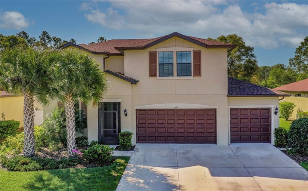 This is the one!  2800+sq ft, 4bd 2.5 bath, open floor plan in highly desired Sarasota County School District.  This beautifully maintained home is move-in-ready!  Enjoy natural lighting from every room. Double sliding doors open the living room to your private oasis with a sparkling blue heated/cooled pool under an extended covered lanai.  Enjoy entertaining your guests in the open concept kitchen with granite countertops, center island w/seating, wine refrigerator, built-in wine rack, pantry, recessed lighting, tray ceilings, upgraded cabinetry, all adjoining your dining and living area to the beautiful lanai!  Sequestered and private, the 1st floor master bedroom includes tray ceilings, walk-in closet, and an en suite w/dual sink, glass enclosed shower, granite counters and linen closet. Three 2nd floor bedrooms with dedicated closets are ideal for guests, plus a spacious loft to suit anyone's needs!  Other features not to forget: Attached 3 car garage with custom overhead shelving.  Oversized laundry room, and large den/office with double doors on 1st floor. Enjoy all the amenities of Cedar Grove, which include a community pool, tot lot, playground, grills, convenient access to the highway, airport, and more.  This beautiful community also features maintenance free landscaping!  All of your lawn care needs are included in the low HOA fee.