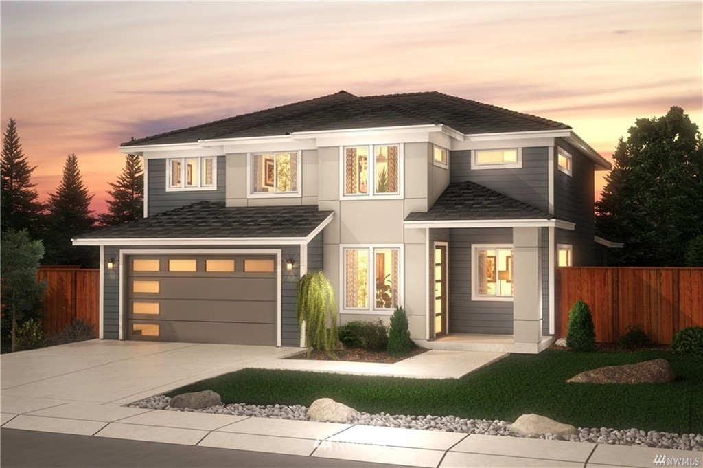 """5 car garage! Should I say more? The Camilla Plan is the last home with parking for 5 and has space for RV parking on the side! Elk Run is a sought after community that is within minutes of Bonney Lake Retail/Dining, Lake Tapps & quick access to HWY 410 & 167. Impressive Standard Features include 36"""" tall soft close cabinets, 3cm granite or quartz counters, SS appliances, 5 panel doors, freestanding tub & more! 2,752 ft of living space, including a home office, open concept Kitchen/Great Room w/ an oversized walk-in pantry & covered patio. 4 bed/2.5 bath w/loft. Hurry...there is still time to personalize your new home! Est May Completion."""
