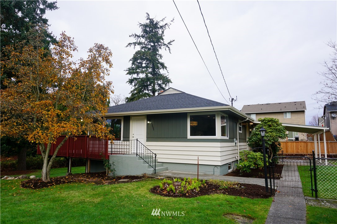 Welcome home to this beautiful mid century modern home tucked away on a private road on Kent's east hill. This daylight basement rambler has been fully remodeled inside & out, sparing no expense (Roof,windows,doors,gutters,plumbing,electric,hvac). This home features a mudroom/pantry/laundry room off the kitchen, a half bath off the living room, a master bedroom with walk in closet and pocket door to access the full bathroom. Downstairs features a completely separate 1 bedroom apartment with attached garage & laundry facilities. Multigenerational living at its finest! The large property also has a detached 2 car garage. The city will allow an 800 sqft 2 bed accessory dwelling unit to be built on the property, giving you two rental incomes!