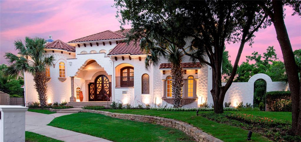 Gorgeous Mediterranean home will transport you to another country - while still in the perfect Plano location! Surround yourself with .80 private acres, lush trees - just in time for the summer!