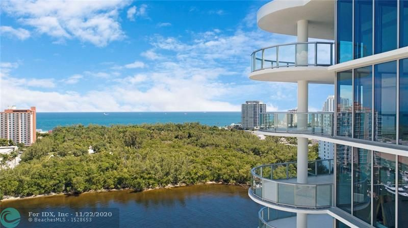 AQUABLU A NEW CONSTRUCTION CONDOMINIUM ON THE INTRACOASTAL WATERWAY. CONTEMPORARY DESIGN. UNOBSTRUCTED VIEWS OF THE OCEAN, INTRACOASTAL & CITY SKYLINE. 3BR, 3.5BA, GREAT RM, FAMILY RM, 10' CEILINGS, CULINARY KITCHEN: WOLF & SUBZERO APPLIANCES (INDUCTION COOK TOP), 2 OVERSIZED BALCONIES W/SUMMER KITCHEN, FURNITURE READY, FITNESS CENTER, SALT WATER CHLORINATED HEATED POOL, DOCKAGE AVAILABLE, VALET & CONCIERGE. WALK TO THE BEACH, SHOPS & RESTAURANTS. (OWNER FINANCING) SQ. FT FROM DEVELOPER BELIEVED ACCURATE.