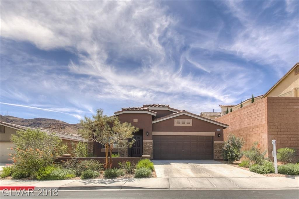 Incredible 3 Bed + Den, 2 Bath home! Kitchen seats 6-8 people w/granite countertops, GE Profile SS appliances, under mount sink, professional 5 burner stove, breakfast bar & walk-in pantry. Spacious master bedroom w/huge walk-in closet & built in shelving. Low maintenance desert landscaping, large covered patio & large pool sized yard! Energy saving features incl 16 SEER AC unit, Radiant Barrier roof systems & Low-E/Dual Pane windows.