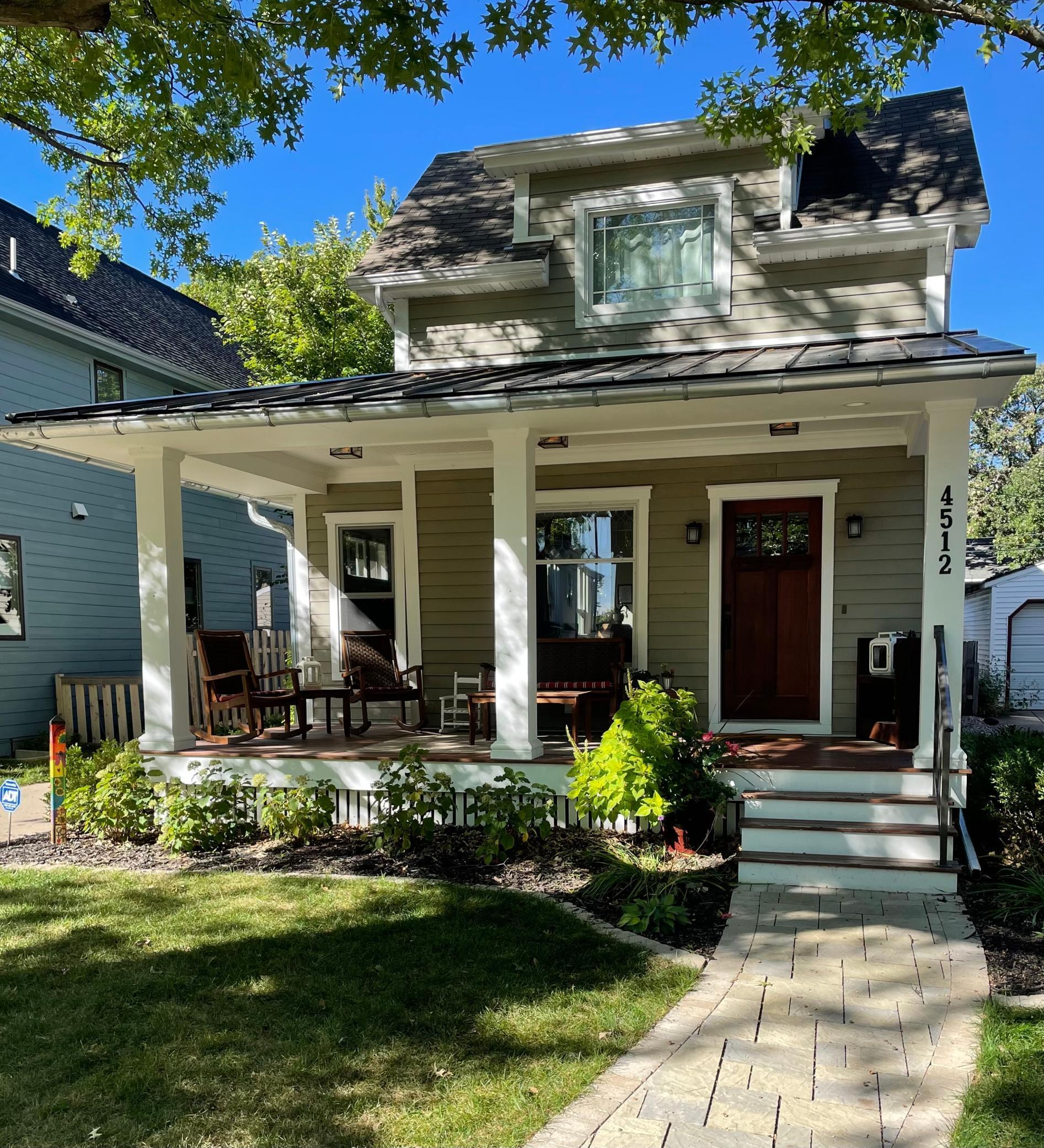 Darling Linden Hills home. Front porch and walkway added 2018.