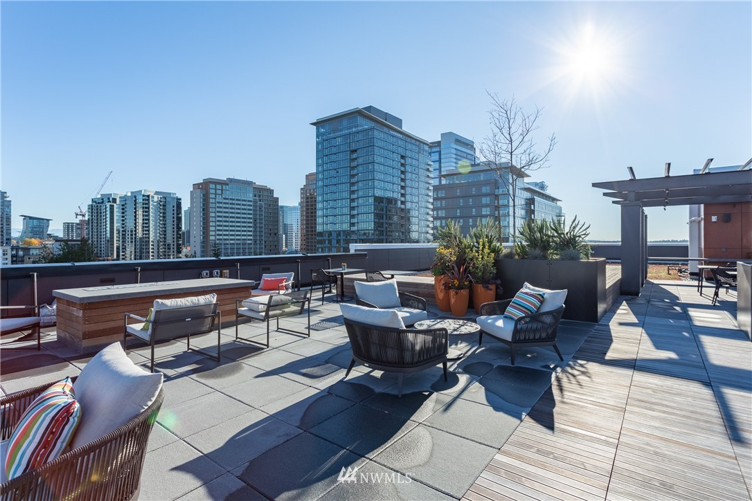 The only move-in ready new construction in downtown Bellevue! Fabulous location 2 blocks north of Bellevue Square and very close to the finest restaurants, shopping & entertainment. Amenities include private courtyard, staffed lobby, club room, rooftop deck with bbq and firepit, and secured garage. This 2BR 1Bth home offers open living on SW corner, modern cabinetry, quartz counters, stainless appliances, parking, storage and more. Hurry, call Bellevue home! More floor plans are also available.