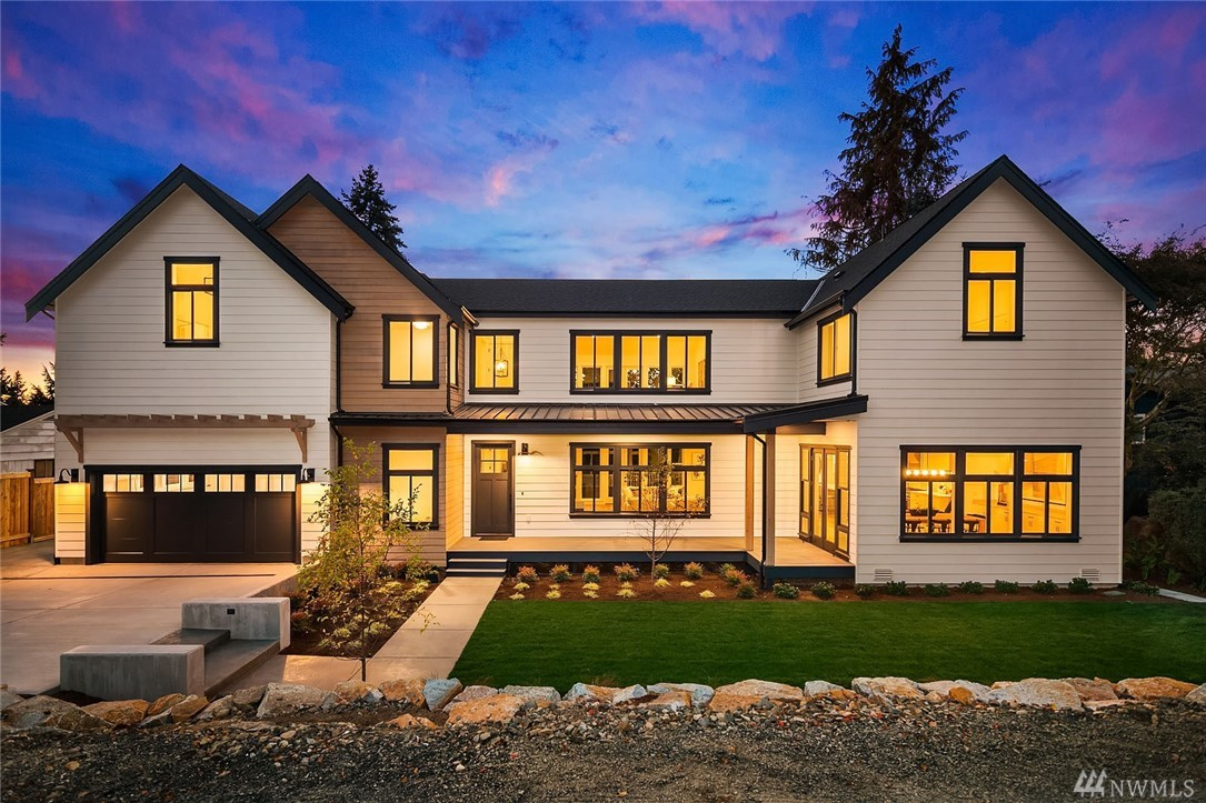 Welcome to this stunning new construction urban farmhouse with lots of natural light and an incredible yard. This special home wraps you in warmth and style from the moment you enter. The expansive great room offers flexibility and the Chef's kitchen is a dream for any cook. There is a full guest suite on the main. The 2nd floor has a stunning master suite with dual closets and west views. There is also a huge bonus room with wet bar and 3 bedrooms with bathrooms up. Pre-wired for solar and EV.