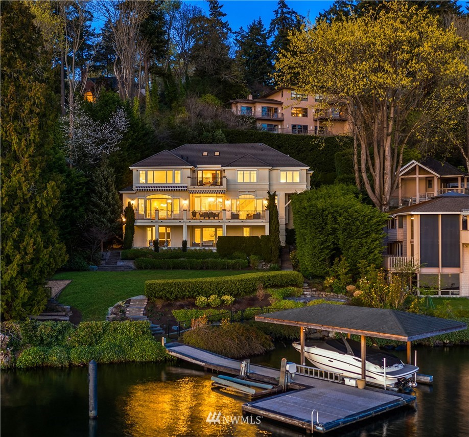 In a tranquil, private setting on Mercer Island's famed Forest Avenue, enjoy 105 feet of west facing waterfront where lake & Olympic Mountain views are framed by nearly every room of this custom Schultz Miller home. Carefully curated w/luxury details & finishes, the light & airy floor plan is perfectly balanced to punctuate the view as well as provide endless opportunities for indoor/outdoor living. An outdoor oasis complements its surroundings perfectly—dine w/friends on the patio while games are played & s'mores are roasted on the spacious level lawn. For the lake lifestyle enthusiast, water sports are a breeze from the private dock. Perfectly placed in a cherished community & secluded locale minutes to fabulous island amenities.