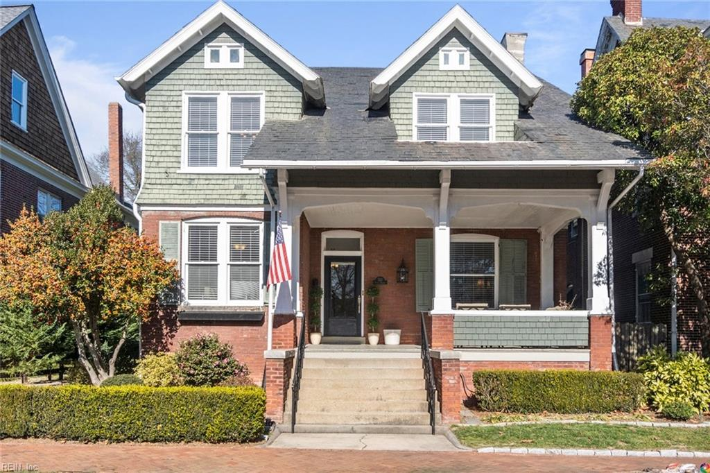 This elegantly comfortable Colonial in Olde Towne boasts plenty of space and charm. With 9.5 ft ceilings, fluted columns, 2 decorative fireplaces, oversized pocket doors, picture railings and hand carved stair railings, the ground floor showcases some beautiful detailing. The spacious kitchen abuts the dining area, living room, foyer and office. Three bedrooms and two baths are on the second floor, with the master suite includes a luxurious walk-in shower, double vanity, heated travertine floors, and a rarely large walk-in closet. The third floor is a flex space that can be used as a bedroom, home gym or additional living area. Full basement with plenty of storage.