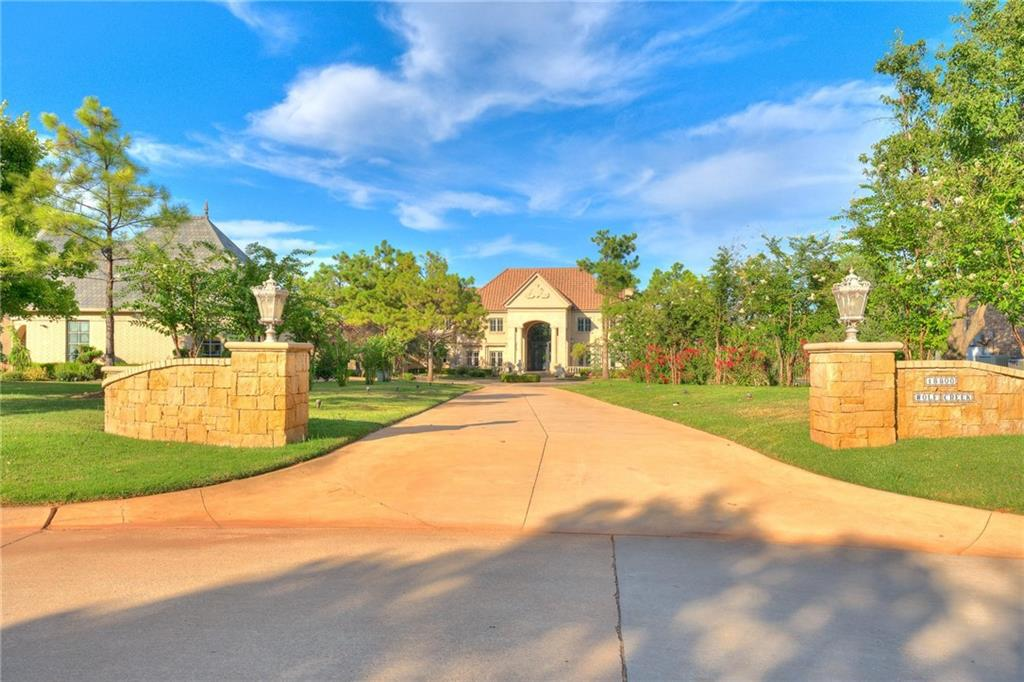 """A one-of-a-kind, Custom Build is available now! In the highly sought-after, beautiful Mullholland Addition, nestled quietly in Edmond Schools! As you pull up to this brilliant cul-de-sac, lakefront lot, you can just feel the luxury driving down the long driveway! The grand entrance is very inviting & once inside you know you are home! The staircase leads to second level privacy & even a third split level of """"teenage paradise"""", if that's a need! The Master Suite looks out over the water & has a cedar lined closet/safe room! Out back is the oversized patio, huge yard & even a bridge leading to a """"private island"""", for any potential little-one camp out nights of fun! All rooms are very viable options for any flex needs! Multiple patios surround the home for a secluded moment of fresh air! Let's not sleep on that kitchen & living room, open for great entertaining! Even has a nice separate mother-in-law suite downstairs with bonus area over it! ***Truly a gem & YES, room for everyone!***"""