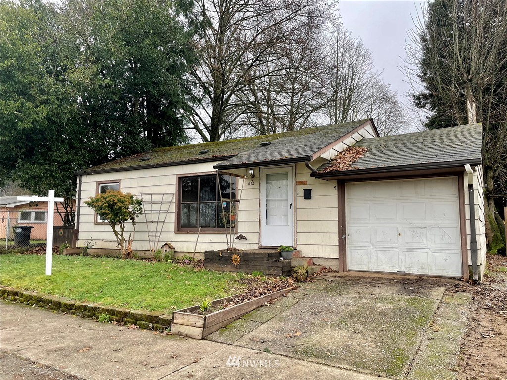 """Great starter bungalow with a fantastic back yard!  Close to all amenities.  Some upgrades will make this a comfortable little home or perfect rental. Being sold """"as is'.  Seller will make no repairs."""