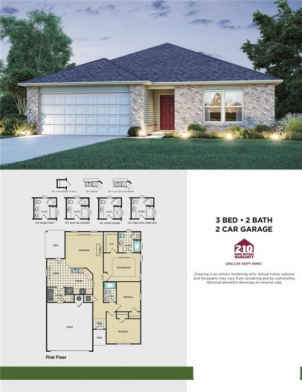 Home has a great layout with three bedrooms and two baths.  Home backs up to tree line and creek.  Huge Lot!  Home is currently under construction with anticipated completion in May 2020.