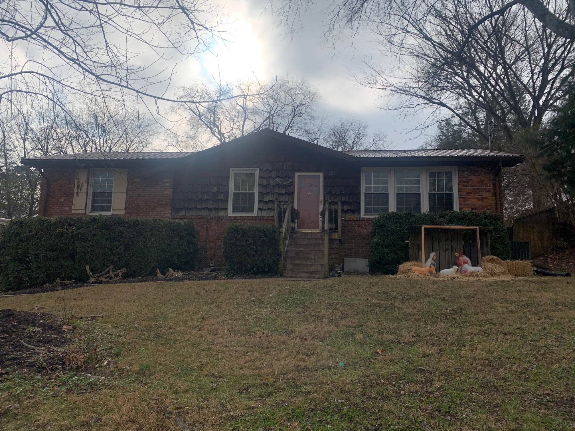 House is located in a great area near Old Hickory Lake. All brick, full finished basement, fenced backyard, hardwood floors on main level. Home has lots of potential.
