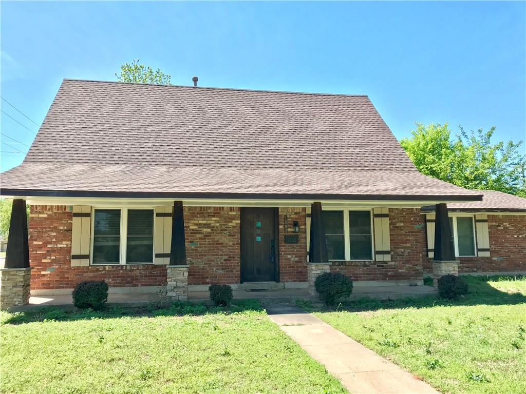 Sip your tea on the Craftsman-inspired front porch with custom front door in this charming Updated Craftsman only 1.4 miles from OU campus on a large corner lot, with two living areas, 4 bedroom and 2 full bathrooms. Granite countertops, stainless steel appliances, Bar space, and beautiful cabinetry in the Renovated Kitchen. Both upstairs and downstairs full Bathrooms have also been Renovated. All of the Bedrooms have plenty of Storage; most have Two Closets! There is convenient exterior access points to enjoy the spacious Backyard, and a Storm Shelter for peace of mind. Close to elementary school, shops, and highway access. Whether you're looking for space for a growing family or an investment property, this unique home has much to offer!