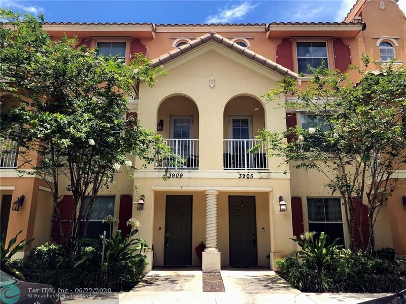 BEAUTIFUL 3 LEVEL TOWNHOUSE IN COCONUT CREEK BUILT IN 2006. 2 MASTER BEDROOMS WITH FULL BATHS ON THE TOP FLOOR – ADDITIONAL BEDROOM WITH A FULL BATH ON THE GROUND FLOOR. ALL BEDROOMS WITH FULL BATHS!! 3 Bedroom, 3.5 bath, 2 Car Garage with 2 car driveways. 2nd Master currently being used as an entertainment room. Gorgeous new floating manufactured grey wood flooring on the second floor. Cozy Carpeted stairs and upper level. Cute Balcony with lake view. Upgraded silent belt drive garage door opener with WiFi and keypad. Walking paths with large community pool and playground. Great location with walking distance to the Promenade at Coconut Creek, plenty of things to do in the area – good schools. Can rent right away for 6 months up to a year. Pet friendly community.