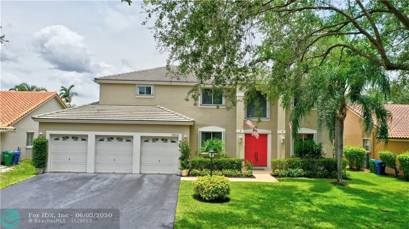 Amazing opportunity in highly sought after Westview Village in Coral Springs. This spacious 2-story 5/3.5 pool home features: NEW ROOF going on in August, First floor master bed/bath, updated eat-in kitchen w/granite counters, SS appliances, pantry, formal living & dining room, open family room to kitchen, tile floors thru-out living areas, carpet in bedrooms, updated bathrooms w/dual sinks & linen closets, spacious loft, 2nd floor laundry w/storage & tub, 2nd floor master boasts walk-in closet, dual sinks w/vanity, Roman tub & separate shower, accordion shutters for entire home, screened-in pool/patio and fully fenced yard. Close to top rated schools, shopping, dining, parks & Sawgrass. $75 HOA fee. Hurry, you do not want to miss this!