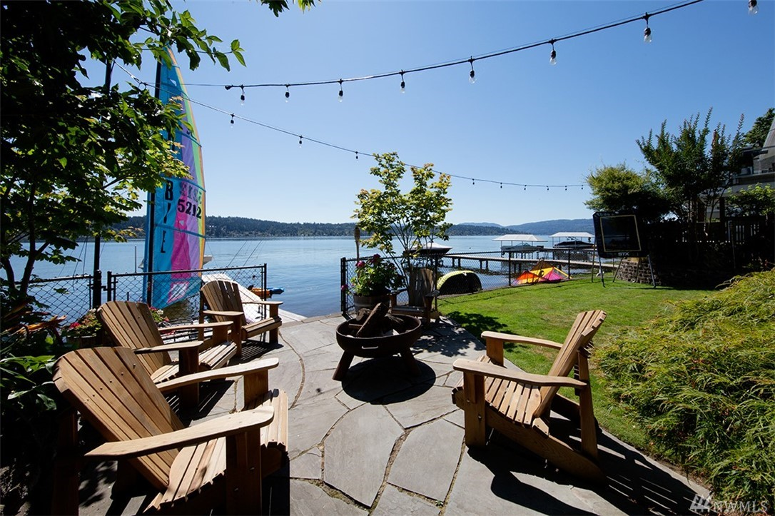Lakefront retreat in North Rosemont neighborhood on Lake Sammamish Gold Coast.  Incredibly quiet setting, off private lane. Right sized gem crafted over time to maximize living spaces, high quality materials found throughout; especially in the wonderfully appointed kitchen. Level backyard w/ well maintained landscaping leads to 50 feet of waterfront, dock and boat lift for your life on the lake. Water views from nearly every room, and a deck to enjoy the morning sun and the evening shade.