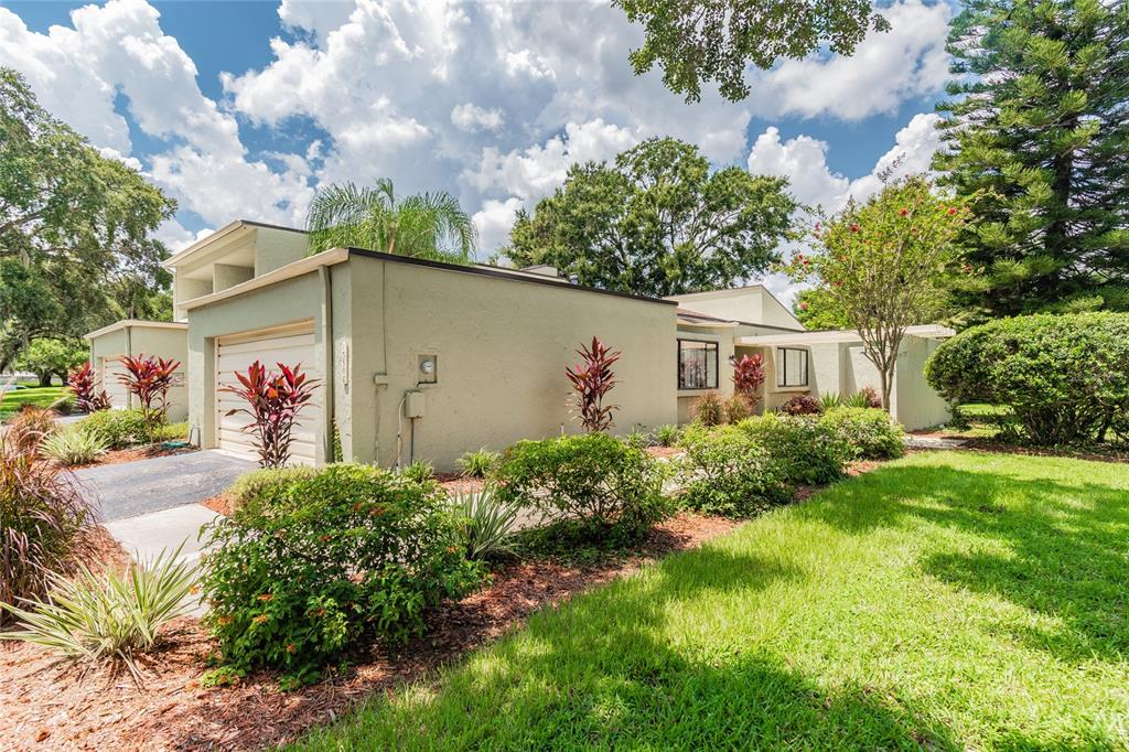 NEW LISTING--Hard to find 2/2  one story villa with a 2 car Garage in Carrollwood Village -Side double door entry leading  with spacious foyer-Formal Living room to the left and Dining area to the right ,Galley Kitchen which leads to Cozy eating area. Also Large Family room with vaulted ceiings and corner fire place. Sliding glass doors lead to a very large patio.  The Master bedroom has its own ensuite and Large walk in closet , Large  secondary Bedroom at opposite end  from Master  with access to 2nd Bath  NOTE-2 car garage !  Roof replaced recently--2017 .   Walk to Publix's,  Pharmacy, Restaurant's etc. Enjoy The Carrollwood Cultural Center which has Music,Plays & other interests. visit  the new 100 acre Park on West Village Drive.