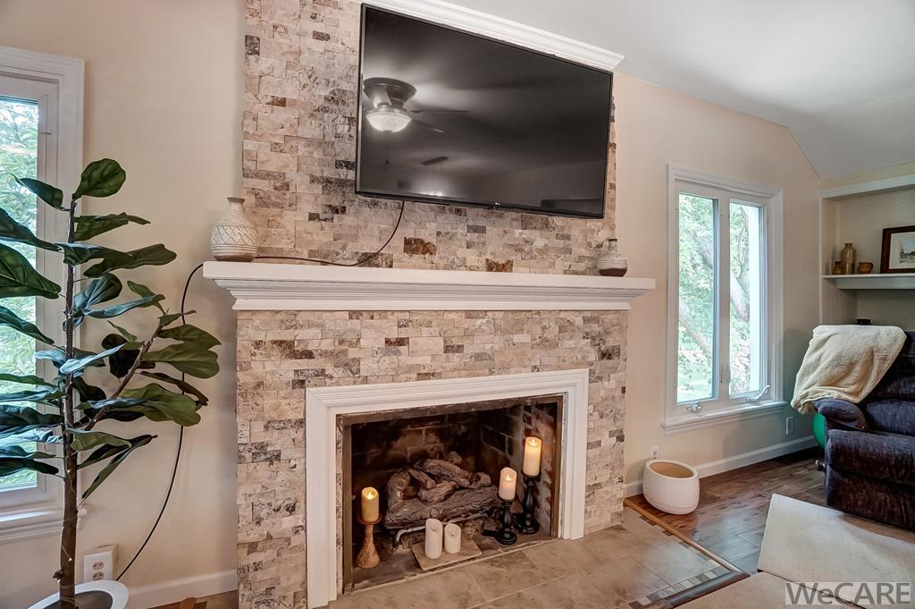 RENNOVATED FIREPLACE EXTERIOR
