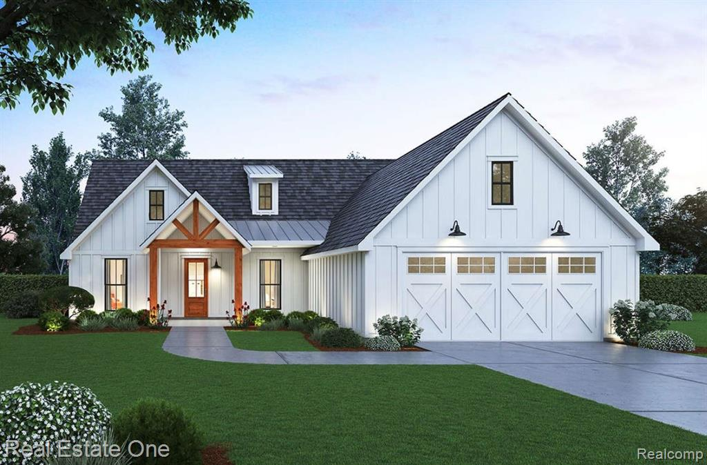 This is a new construction listing, construction has begun with an estimated completion date 70 to 90 days after closing. In addition to this newly built home this listing includes a 30'x40' pole barn with a RV parking space located besides the pole barn. If you want that up north feel and a great quiet property, this is for you.