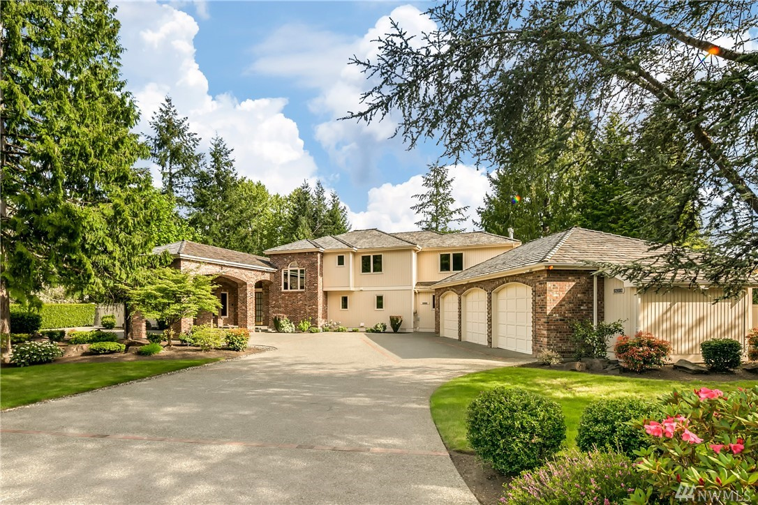 Experience estate living in grandeur & serenity on 1.77 acres w/sweeping main floor master suite w/patio, fireplace, sitting rm, views, his & her walk-in closets & elegant masterbath. Guests arriving at your impressive porte-cochère & magnificent foyer step through beveled glass pocket doors into your soaring living room w/floor-to-ceiling windows framing a peaceful, natural view. Open kitchen w/walk-in pantry, commercial 6-burner stove.4 fireplaces, fenced yard, heated flooring & so much more!