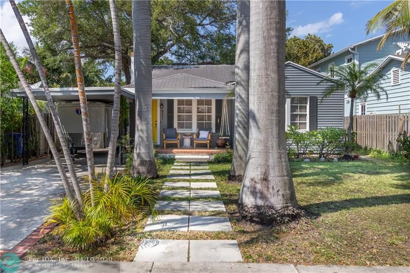 This home has it all! Main Dade-County Pine home features two bedrooms and one bath, guest house/studio in backyard features one bedroom and one bath. New Lennox central HVAC unit (less than 3 yrs old) with u/v light strategically placed to prevent mold or bacteria growth, newly updated electric in both main home and guest house, brand new tankless water heater in main home and guest house, and FPL lines underground for your peace of mind and convenience! Impeccably maintained original wood floors, built ins in kitchen, and glass door knobs. Attic has brand new R30 fiberglass insulation. Three zone sprinkler system on separate city meter. Home is very spacious with tons of room for entertaining both inside and out. Very quiet tree lined street with tons of mature landscaping.