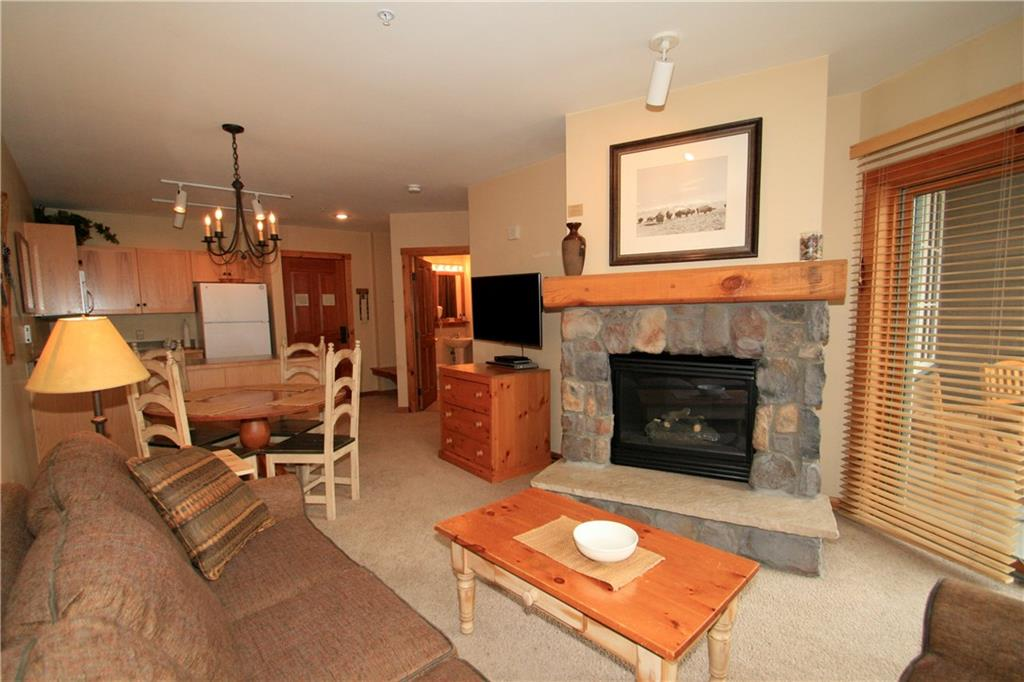 Gas fireplace keeps this 1 bedroom condo cozy all winter long