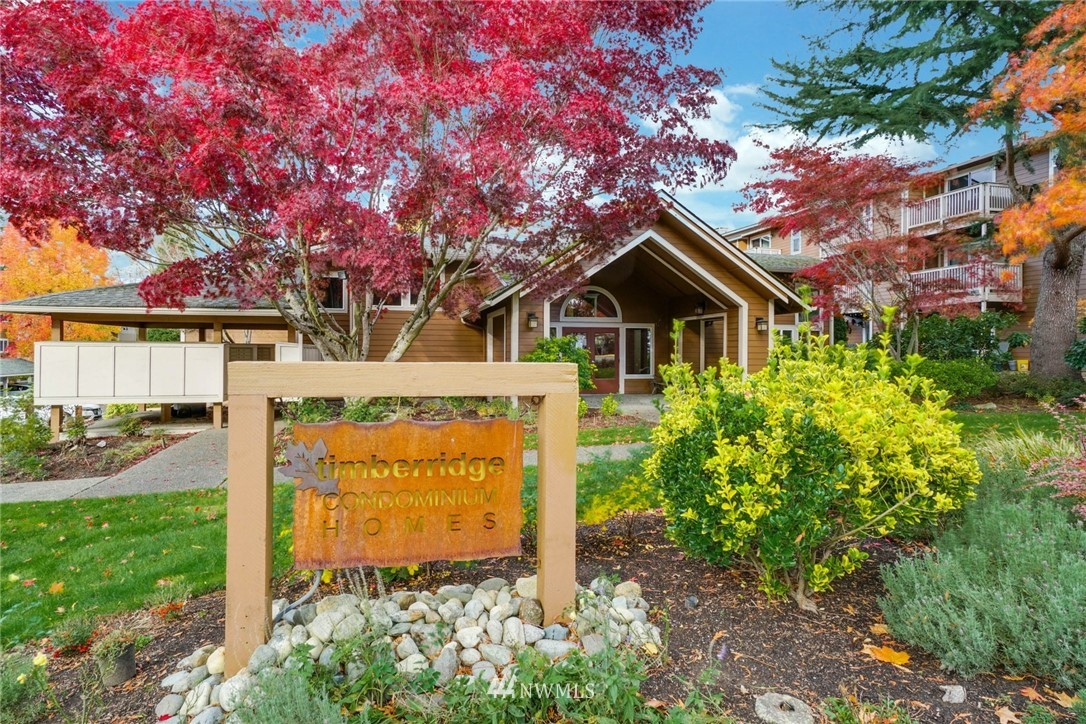 "Spectacular location in the heart of DT Woodinville & Wine Country. Updated 2Bd, 2Bth""turn key"" condo w/open floor plan that boasts large picture windows & cozy fireplace. Beautiful sunsets, trees & mountain views from your covered deck. Kitchen features cherry cabinets, dual SS sinks, tile floors w/black appliances. New carpet, pad & paint throughout. Walking distance to award-winning wineries, restaurants, trails, parks & shopping.Close to 405,522, Metro, NS Schools, 2 reserved parking spaces."