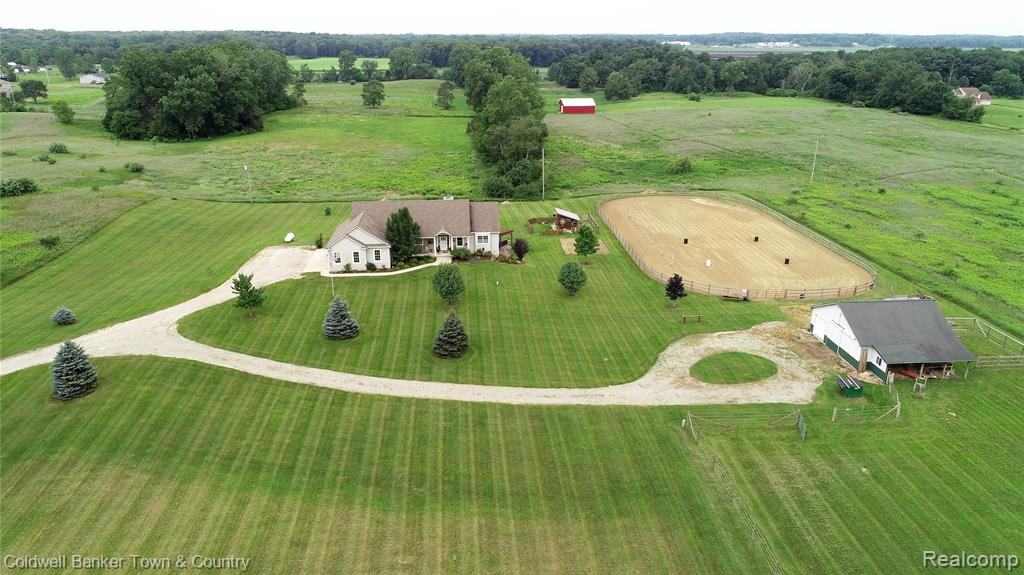 Multiple offers received. Highest and best deadline Friday, July 23 8 PM.Welcome to 6400 Dutcher Rd. Here you will find so much more than a home, you will find a country perfect way of life.  From the fit and finish to the layout, there will not be any disappointments. This open concept home has attention to detail around every corner. This beautiful 4 bed 3 bath walk out  ranch style home is positioned perfectly on its 5 acres & has one of the most dramatic sunset views you could wish to have. Once inside, the warmth and charm of this home will take your breath away. The lower level offers in floor heat, full kitchen, and tremendous amounts of daylight and storage.  The horse barn is equipped with a tack room, electric, & water. Oh P.S. , there is even high speed internet!