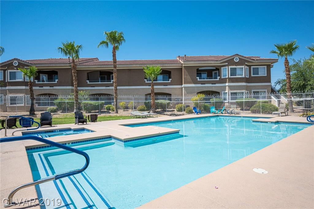 This 1,249 sqft gorgeous single level condo is located in the desirable South Valley Ranch Community. It features 2 bedrooms, 2 bathrooms, & 1 Car detached garage. Stunning shutters installed in every window. All appliances included!  Kitchen overlooking the family room, great for entertaining. Amazing walk-in tub installed in the master bathroom. Private Balcony! Community includes pool & spa! This home will not last!