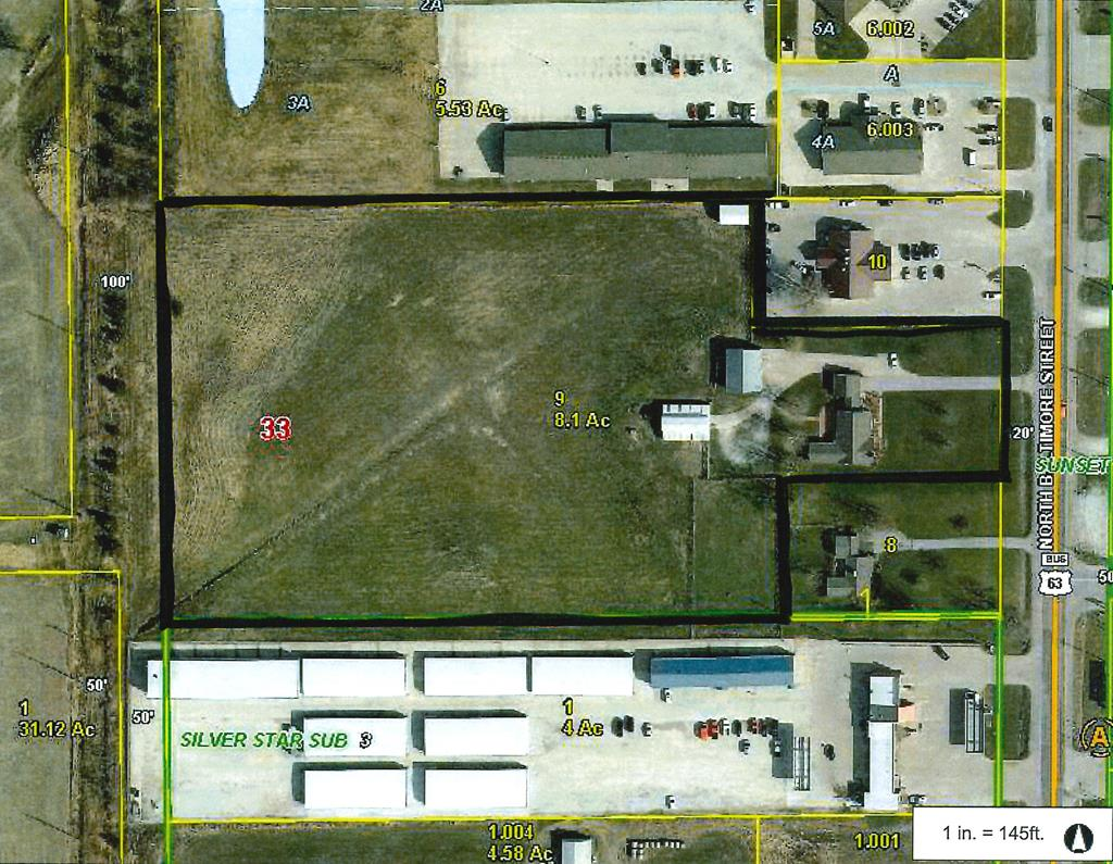 COMMERCIAL PROPERTY!  8 acres m/l of M-1 zoned property on the North end of Baltimore ready for development.  This prime piece of property sets just North of Hobby Lobby and Marshalls and South of The Home Depot and Menards. Call Charity Taylor at 660-341-4607 for more information.