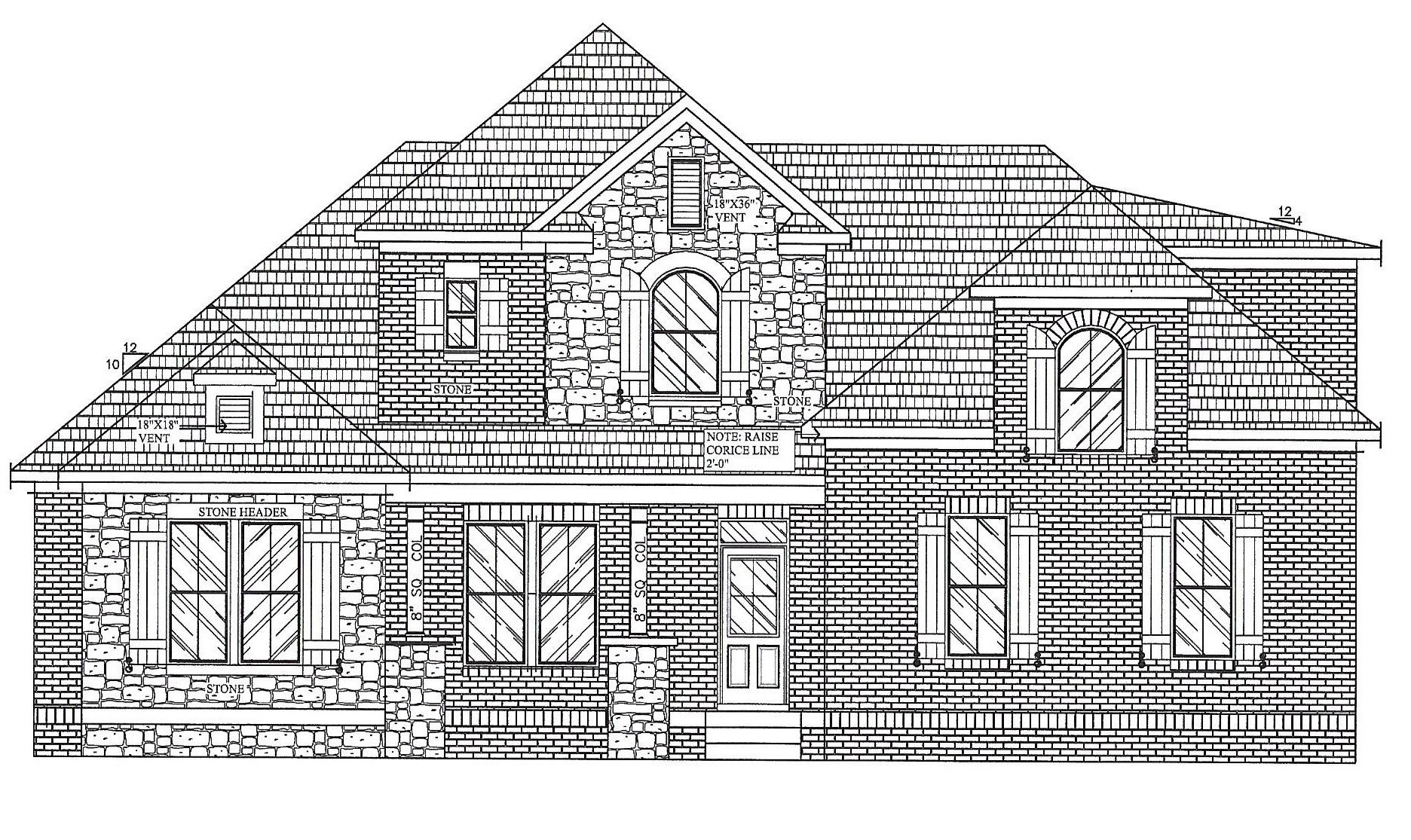 NEW ALL BRICK COMMUNITY - 3 CAR SIDE LOAD GARAGE, 3 BEDROOMS ON THE MAIN FL~ CUSTOM CABINETS THRU OUT, HARDWOOD FLOORS, GRANITE IN KIT&BTHS,  OPEN LIVING FLOOR PLAN, COVERED BACK PORCH - FINISHED BONUS, 4th BEDROOM AND FULL BATH UP-IRRIGATION, TANKLESS WATER HEATER.
