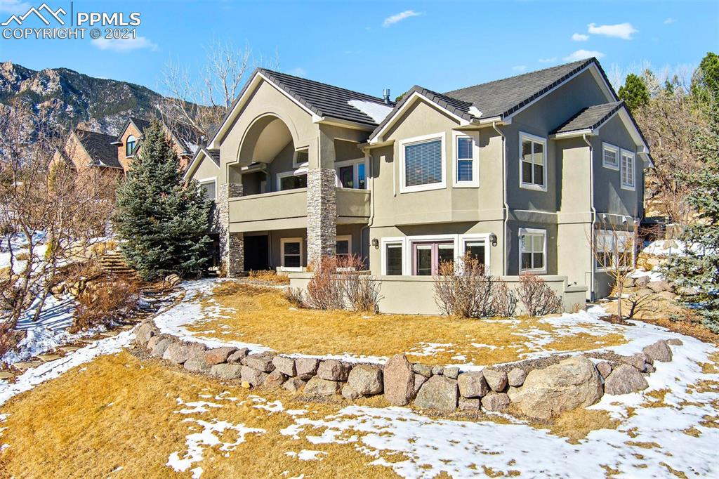 Main Level Living meets Mountain Retreat in this updated custom rancher * Front porch entry leads into a vaulted ceiling for great sense of arrival * Formal dining area with bay window and mountain views * Dual-sided gas fireplace connects dining, kitchen, and family room with built-ins *  Slab granite in spacious kitchen with gas range, breakfast bar, large pantry, dual wall ovens and dual sinks  * Tucked-away Five-piece Master Suite with spacious walk-in closet and jetted tub * Private walled patio with outdoor gas fireplace * Updated main level laundry room * Walkout Lower Level is light and bright with its own walled patio (with views!), stacked stone gas fireplace, built in double desk and cabinetry * Lower level flex space for storage / workout / theater room / etc.! *  and MANY upgrades since current owners purchased this home à New roof (2018) * New blinds * New water heater * New irrigation system in back and on sides of home * Added walk-in shower to 2nd main level bedroom * New floor and counters in main level laundry room * New carpet on stairs and in lower level * Award-winning Cheyenne Mountain D12 schools * Mountain vibe but convenient location super close to the Country Club of Colorado, Broadmoor Valley Park, lots of dining options, and Hwy 115 *