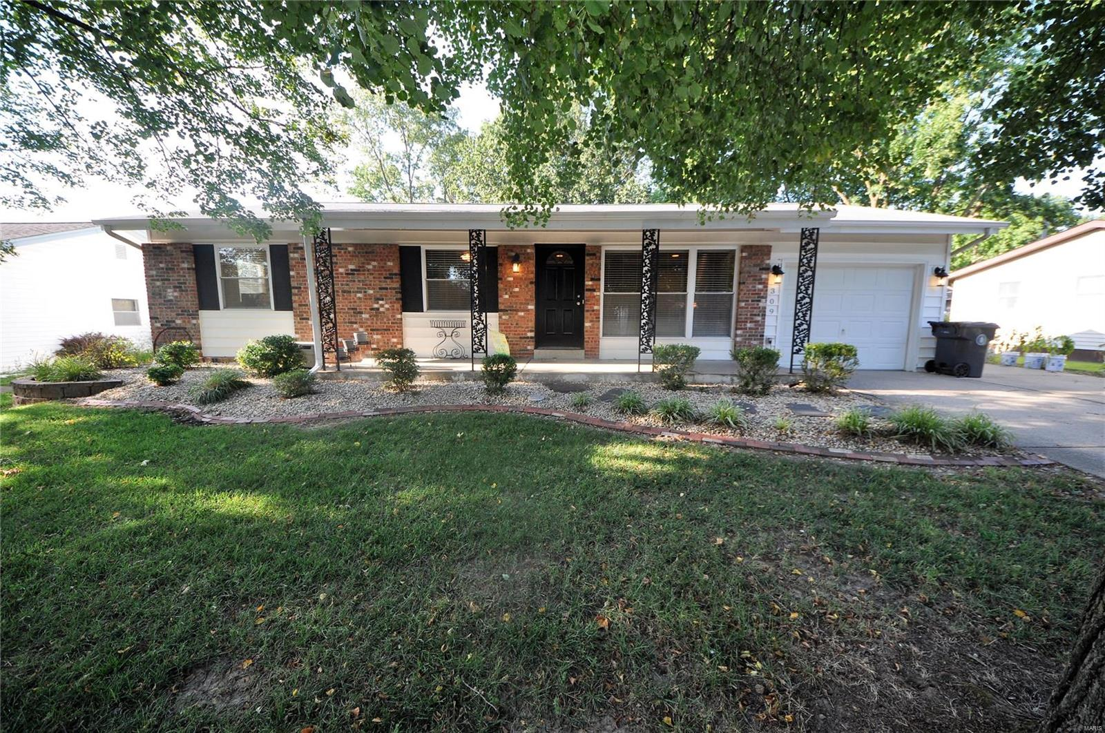 UPDATED 3 BDRM, 2 BTH ranch w/1500+ sq ft & large, level fenced in backyard in the heart of north O'Fallon. Updates include: luxury SS appliances (21) including refrigerator, fresh paint throughout ENTIRE home (21), bth fixtures (21), 2 sleeping areas added in lower level (20), HVAC & water heater (17). Exterior boasts brick front w/covered porch on nearly quarter acre lot w/oversized 1 car garage, patio overlooking fenced in backyard w/shed & firepit area. Interior starts w/spacious living rm w/built in entertainment area & wall to wall windows providing TONS of natural light. Updated kitchen w/custom cabs w/crown molding, wall of built ins, pantry, ALL new SS appliances including gas stove, breakfast bar & breakfast rm. Main fl owners suite w/wall to wall closet space & full bth w/walk in shower. 2 add'l bdrms & full bth on main. Partially finished LL includes rec/family area w/couch that STAYS & 2 add'l sleeping areas (shelving rack/closet stays as well!). SO much space! MUST SEE!