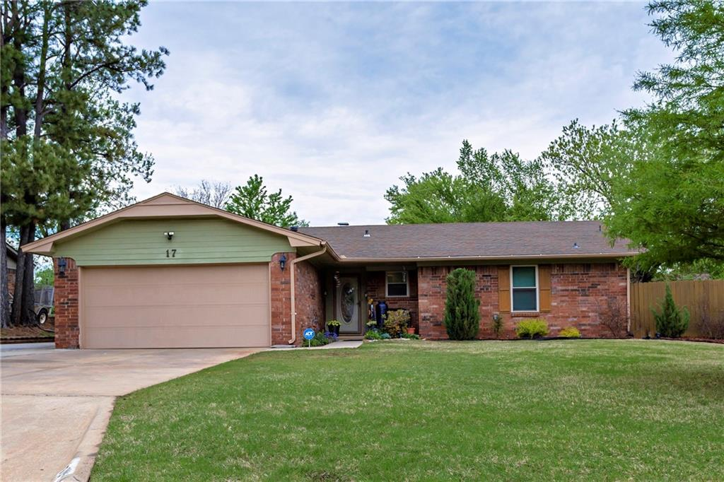 Stunning Larkin's Meadow home just hit the market in Shawnee!! This classically built home features 3 bedrooms, 2 bathrooms, and 1,462 mol sq ft of living space. The living room is flooded with natural light from the French doors while you enjoy a movie or book by the wood-burning fireplace. The kitchen comes equipped with ample cabinet & storage as well as plenty of countertop space for all your baking and cooking. This gorgeous home also boasts a spot for your RV, travel trailer, or extra vehicles. During the summer, entertain in style on the patio or play games in the spacious backyard. This home also comes equipped with a two-car garage to protect your cars in the Oklahoma weather, a covered front porch for morning coffee-sipping, and beautiful flowerbeds to turn your thumb bright green!. Located on a side street in the Shawnee Public Schools system, this home is just around the corner from Sequoyah Elementary School.
