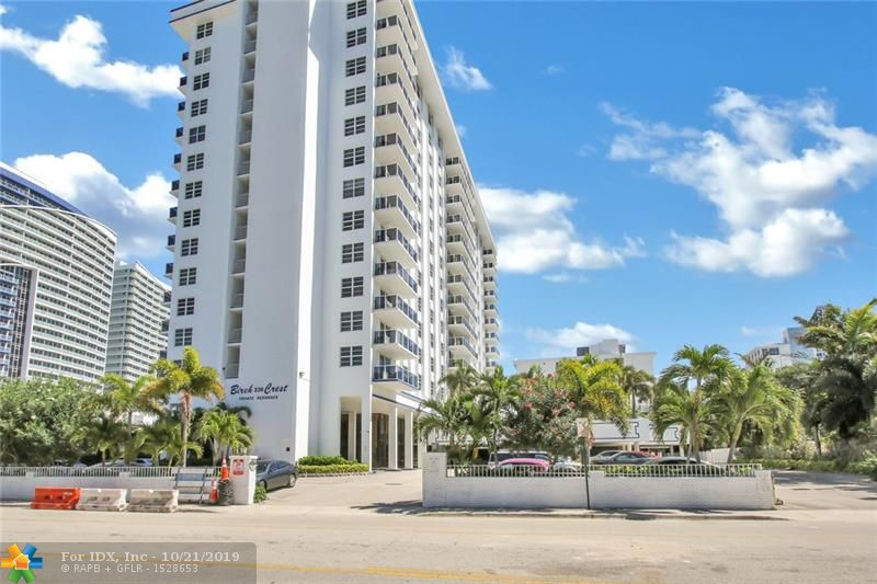 1 bedroom, 1.5 bath condo on trendy FORT LAUDERDALE BEACH. Enjoy spectacular ocean & intracoastal views from the private unobstructed north facing balcony! Hurricane impact glass, neutral porcelain tile throughout. Minutes to Las Olas and Galleria Mall. MAJOR UPGRADES include: New pool & deck, bar & BBQ area, fitness ctr, resurfaced garage, driveway and more. Full-time manager. Hassle free lifestyle. Across from sandy beaches, shopping, dining & magnificent sunrises & sets. Unit has 1 storage lockers outside the unit.