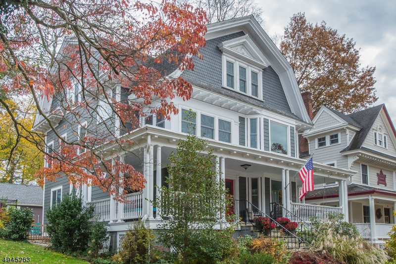 When you think Historic Morristown, this is a home you would imagine.True pride of ownership, just 3 blocks to The Green. Move right into this circa 1888 Victorian, surrounded by beauty like the famed Kellog Club. This home was perfectly restored w/modern amenities, including much of the original woodwork, 3 wood burning FP's, new Andersen windows & 2 car gar. 2 zone central air, new electrical, new boiler, & patio were installed! Come marvel at the beautiful details like the 7' pocket doors, stained glass windows, & exterior finishes. The 3rd fl. master suite is a DREAM w/french doors leading to the dressing room & a beautiful new bathroom w/Victorian soaking tub followed by a 2nd custom master bath with his & hers sinks & rain stall shower w/custom barn door. A home not to be passed up at this price!