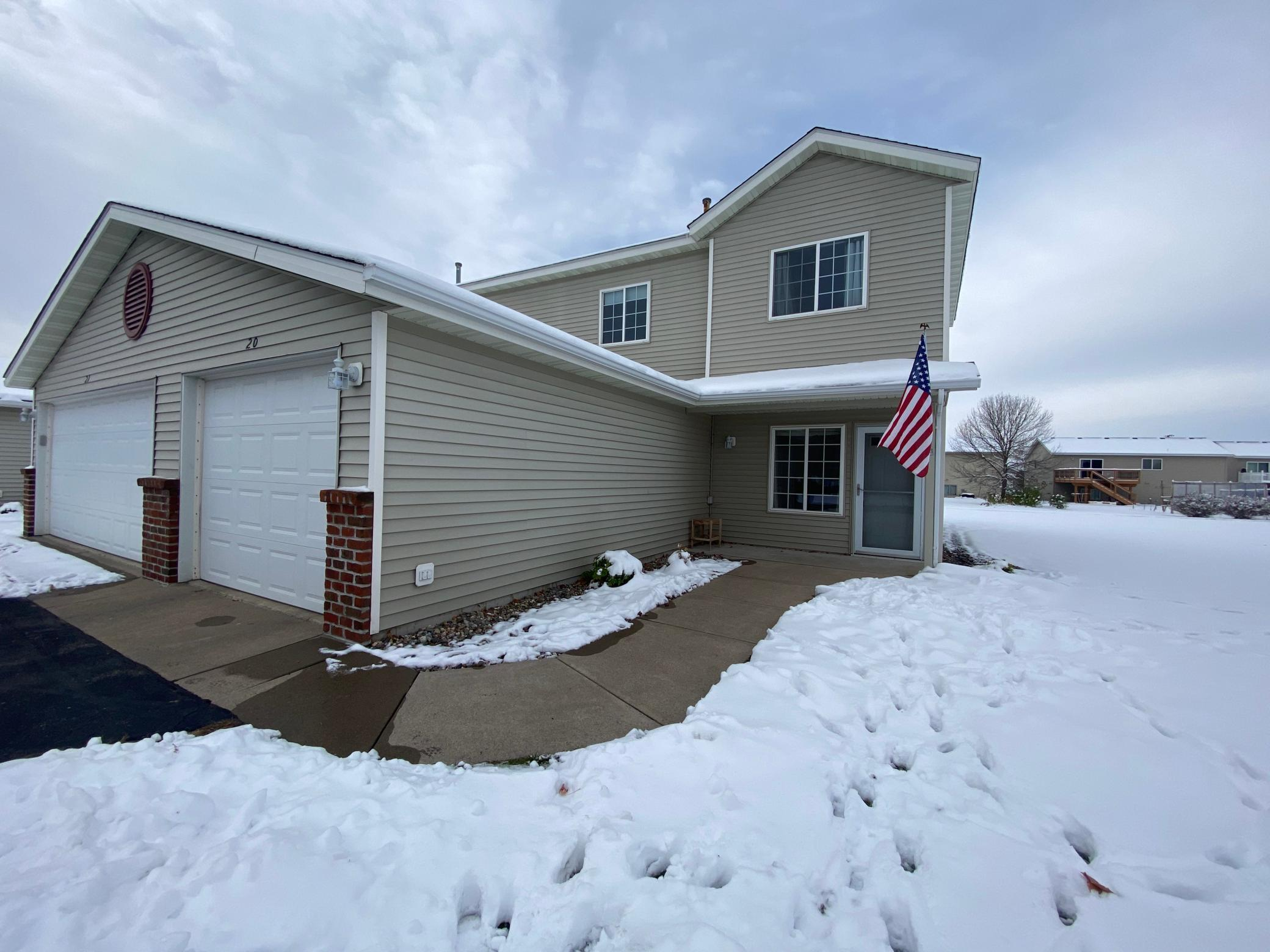 Great Town Home on popular West side of Saint Cloud! End unit now available with walking trail and parks. Step into an inviting foyer with front coat closet and windows with beaming natural light. Main level design features open living concepts with living room, kitchen with abundance of cabinets and breakfast bar, and dining area. Pantry off of kitchen, 1/2 bath, utility closet and garage access. Living room with patio door to back patio overlooking walking trails. Upper level with full bathroom, linen closet just outside the bath area, laundry closet, and 3 upper level bedrooms including master with walk-in closet. Ease of living, amenities, and quick closing possible makes this home a perfect option!