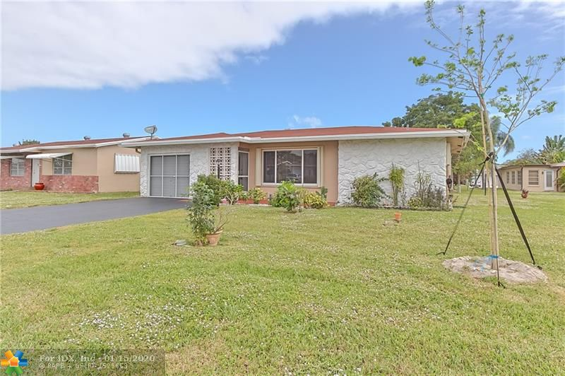 MOST SOUGHT AFTER MODEL IN CRYSTAL LAKE! SINGLE FAMILY HOME IN QUIET ALL AGES COMMUNITY. 1 CAR GARAGE WITH DOUBLE DRIVEWAY.HOME OFFERS 2 BEDROOMS,(2MASTER SUITES),2 BATH, FAMILY ROOM PLUS AN ENCLOSED PATIO. KITCHEN HAS COMPLETELY BEEN REMODELED, BEAUTIFUL WOOD CABINETS, LIMESTONE COUNTER-TOPS & STAINLESS STEEL APPLIANCES. PATIO HAS WINDOWS, AC & SOLAR SHADES.GARAGE IS AC'D. NEWER ELECTRIC PANEL.WINDOWS ARE HURRICANE MINUS ONE SLIDER. HOA FEES ARE ONLY $270 A QUARTER, CLUBHOUSE- FACILITIES ARE INCLUDED & LAWN CUTTING. THIS HOME IS JUST WAITING ON YOU TO BRING YOUR FURNITURE. CLEAN AND READY FOR THE NEW OWNER.DON'T WAIT ON THIS ONE!!! NO LEASING FIRST TWO YEARS OF OWNERSHIP.PREFERRED LENDER IS PRMG. THEY WILL PROVIDE A FREE APPRAISAL. PLEASE CALL JOHN ROSEMARY AT 954-588-3745. NOT MANDATORY.
