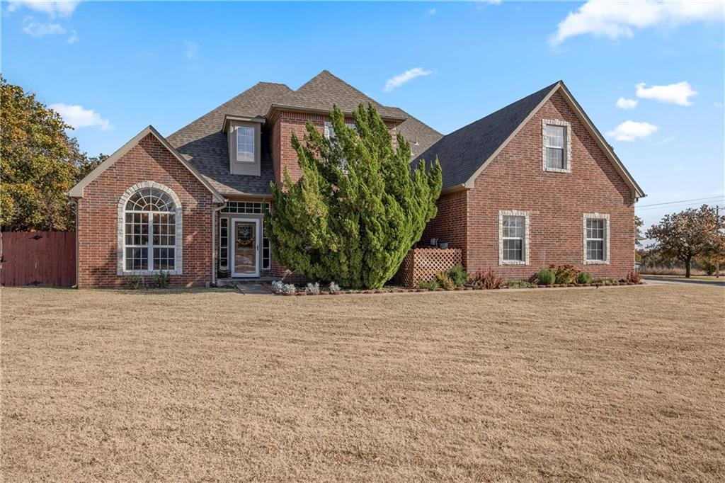 You will fall in love with this beautiful home located in the sought after area of Edmond. The home is situated on the corner lot of a quiet cul-de-sac in Oak Tree Estates across from the golf course. (Owner access.) The home features aversatile floor plan with 4 bedrooms, 3 bathrooms, bonus rooms and a gorgeous study. The kitchen hosts stainless steel appliances, huge pantry and tons of counter space. Open concept formal dining and living room w/ fireplace. Featuring tons of natural light. Spacious master suite with jetted tub located on ground floor with enormous walk in closet w/ built-ins. Utility room w/ sink. Fully fenced backyard with tons of entertaining space. The property features a huge attached garage with in-ground storm shelter, over-sizedconcrete driveway and RV parking. This home is not restrictedbyan HOA.