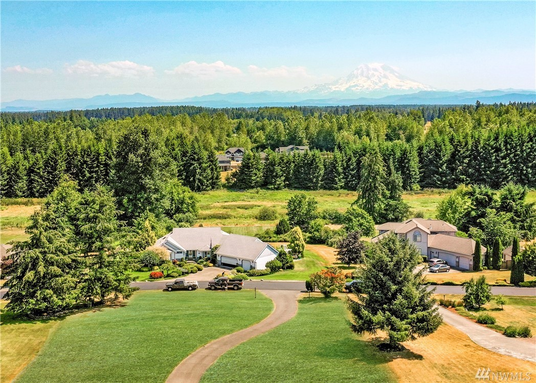 An abundance of options with this impressive Lacamas Valley Estates MOUNTAIN view home! Tucked behind the gates and nestled on nearly one & a half acres is this massive 3545 sqft with DUAL living spaces! Live upstairs and rent the downstairs or ideal for multi-generational living! 2 kitchens, 2 garages, 2 living spaces! Second garage is ideal for a shop + there's RV hookups too. The Mount Rainier view is SPECTACULAR, views from literally almost every room! Peace, privacy & so many options!