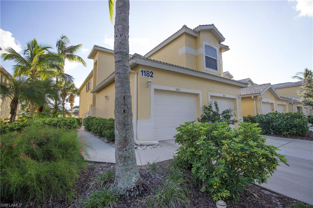 Long southern lake views frame this large, 3 bed plus bonus den, furnished, one car garage coach home in the amenity-rich, western location community of Sterling Oaks. Attached garage with interior private stairs, atrium entrance opens to large living areas with a separate formal dining and breakfast nook. The kitchen opens to living with a large bar area with lake views. The living and master bedroom boasts the most preferred southwestern exposure. Sunsets bathe the screened in lanai with light. Host many guests with ample guest rooms on the opposite end of the unit and even host overflow in the bonus separate den. Laundry in unit, garage, long lake views, this one checks all the boxes. Sterling Oaks is a resort style community located off 41 only minutes to Naples top beaches, dining, shopping and parks. Included is manned guarded gate, clubhouse, resort pool, cabanas, fitness, active tennis program and a cabana bar. Very active and social! Three plus bedroom units don't last long. See the 3d tour.