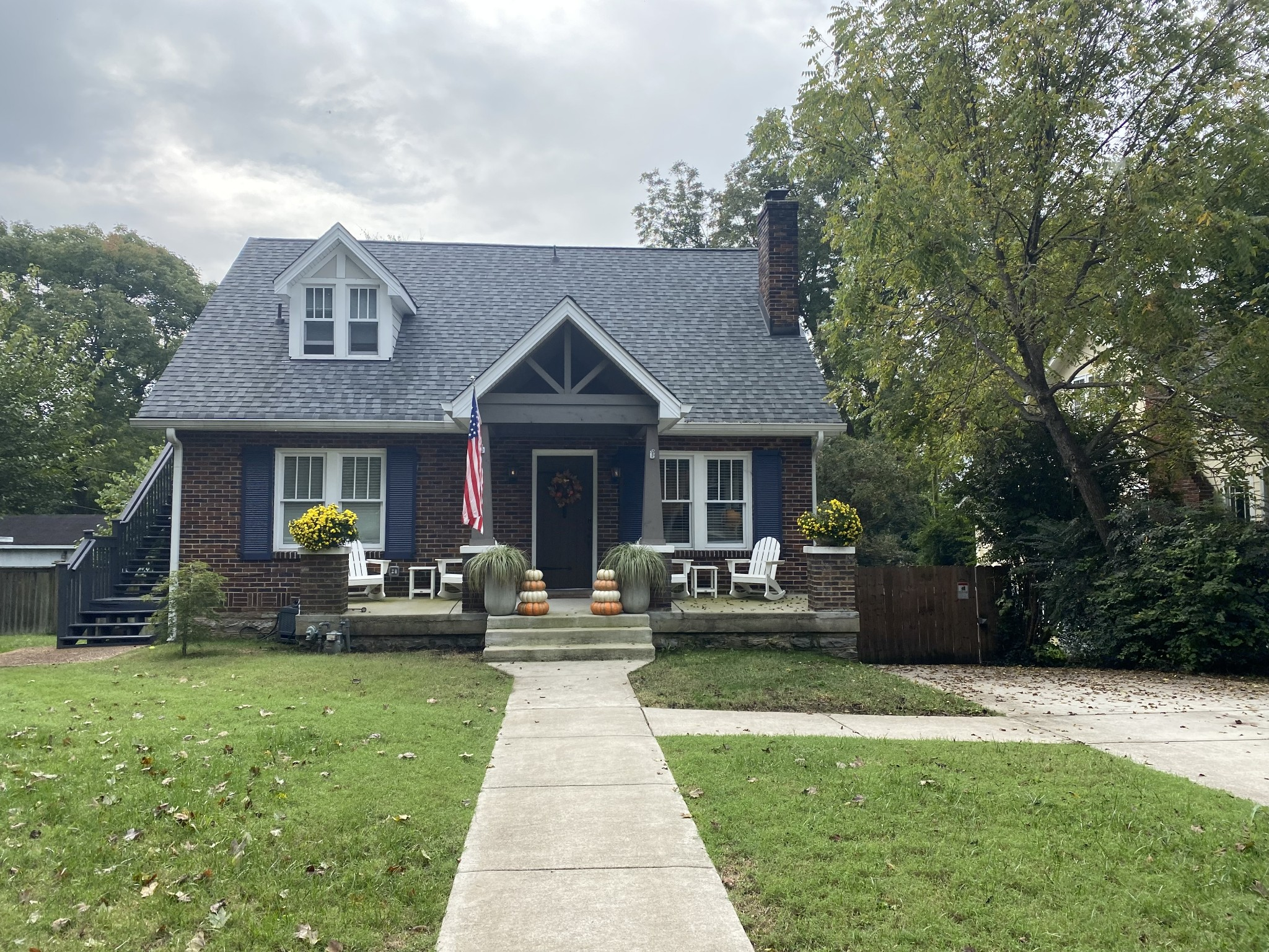 VERY UNIQUE PROPERTY in Sylvan Park!  3 bedrooms on main level, garage apt with sep entrance upstairs, basement has full bath too for income producing. Deemed Duplex on Tax Records, New roof, new windows, new kitchen and more! Fabulous covered porch and flat lg backyard.