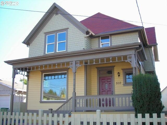Amazing opportunity for live/work in remodeled Victorian with CG zoning.  Rare 5 car garage currently leased at $800/month. Easy access to freeways and bus lines on NE glisan.  Montavilla home completely remodeled with new wiring, plumbing and HVAC.  Drive by then call for personal tour.