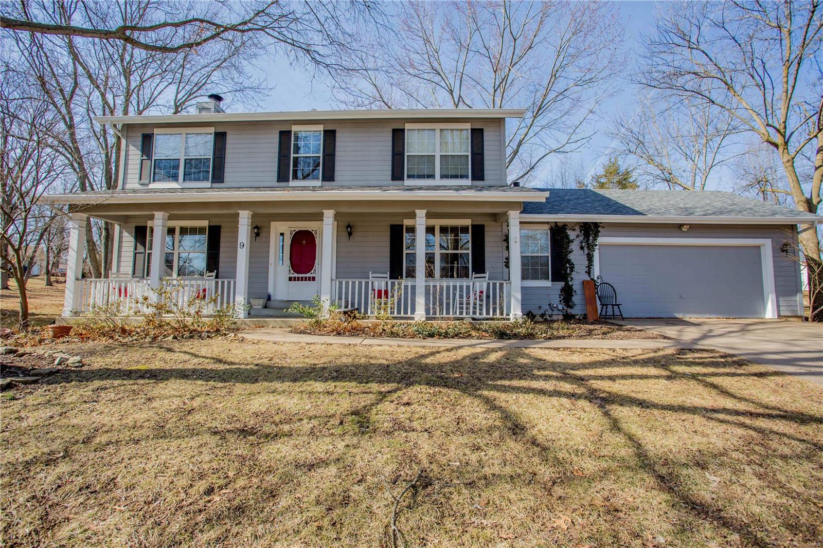 Great lot in the heart of Lake St. Louis within walking distance to the CA Clubhouse! This traditional two story home is situated on a large .34 acre lot. The homeowners replaced the roof in April 2018 and the furnace and AC in December 2016. Inside you will find the charming family room with a brick wood burning fireplace flanked by custom built cabinets and shelves with a large bay window overlooking the back yard. The kitchen has a stainless stove and dishwasher and two convenient pantries. Upstairs the master suite is vaulted with a luxury bath. Lots of closet space, double sink vanity, separate shower and garden soaking tub. Three additional bedrooms and the hall bath also has a double sink vanity. Lake St Louis amenities including access to the 550-acre lake, club house, exercise room, swimming pool, golf course, tennis courts and more.