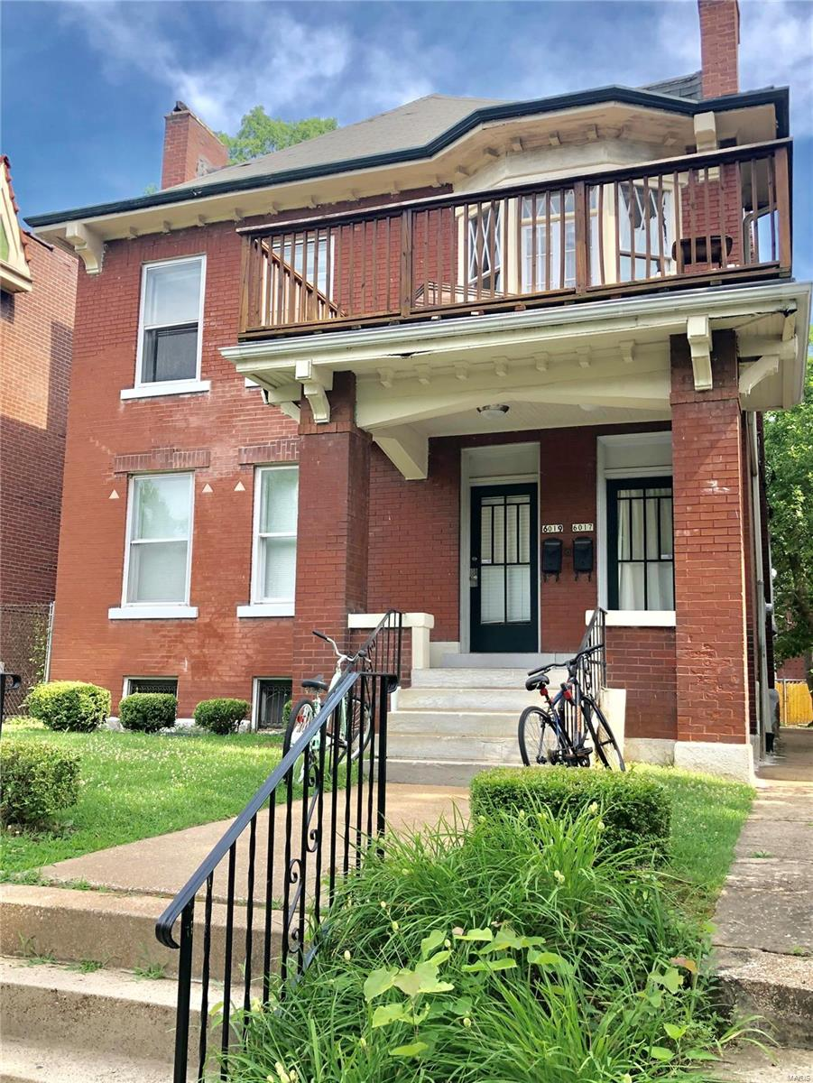 Attention investors! This property is offered at a true 7%+ cap rate on current rents.  Both units are fully rented through May 2020. Sought-after location that is in easy walking distance to Washington University, Metrolink and Forest Park. Large 3 bedroom apartments with one of the best floor plans in the Skinker-DeBaliviere Neighborhood. Rents should be raised to $1,695 when up for renewal. Hardwood floors. Kitchen with dishwashers and tile floors. Garage. Washer and Dryer in basement for each unit supplied by the building. Central AC. New roof in July 2019.