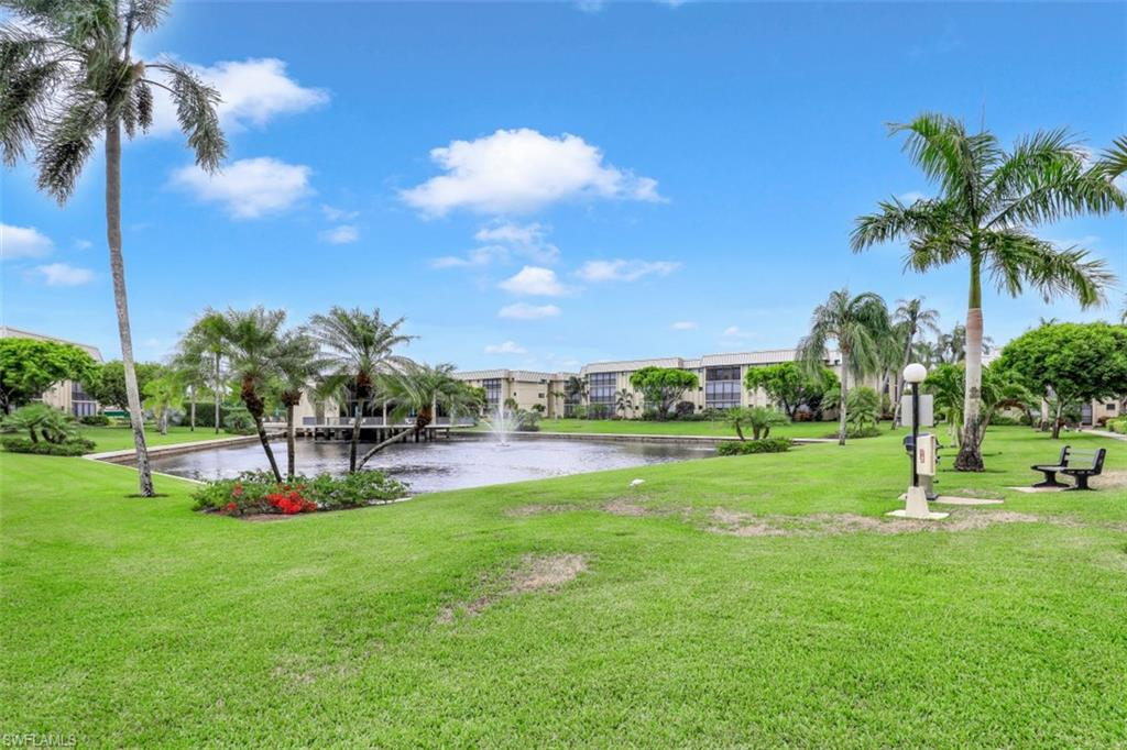 This nicely remodeled Naples condo is the epitome of living in paradise. Located in the beautiful Hidden Lake Villas of Park Shore,  this nicely remodeled unit with two bedrooms and two bathrooms is perfect for anyone looking to find their ideal vacation home. Situated on the first floor, which is rarely available, the space is quite sizable and provides stunning lake views. A private screened in lanai is included in this home, as well as an in-unit laundry and utilities room. This unit also features new windows throughout and a conveniently located assigned parking spot! Amenities are splendid and include a swimming pool, tennis and pickleball courts, and a clubhouse on the lake providing a view like no other. This condo is located in one of the best neighborhoods of North Naples and is only a short distance from the top dining and shops, such as the Village Shops on Venetian Bay and Naples 5th Avenue. Enjoy Stunning sunsets from Park Shore Associations private beach entrance with beautiful park facilities and private parking. Turnkey is also a possible option. Don't miss out on owning this piece of paradise!