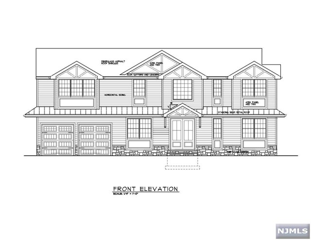 Stunning NEW CONSTRUCTION located in the highly sought after town of River Edge. Van Saun Park right in your backyard!  This custom built colonial features 5 bedrooms, 4.5 baths and 3944 sqft of living space flooded w/Natural Light. First floor features a 9Ft. ceilings-entry foyer, gourmet kitchen w/custom cabinets, large center island, full dining room, guest suite, family/living room with fireplace, mudroom and powder room. The second level offers a master suite w/walk-in closet and spa-like bathroom, junior suite, 2 additional good size bedrooms,  jack & jill bathroom and laundry room. Finished full basement with 8ft ceilings. Features include Hardy Plank siding w/Azek Panel, custom cast iron door, custom designed moldings, coffered ceilings, hardwood floors, multi zone heat and AC, sprinklers. Close to major highways, NYC transportation & the beautiful Van Saun County Park w/various activities including a zoo w/train, pony rides and fishing. Not to be missed!